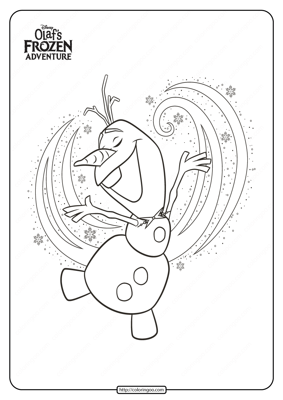 Disney Olaf S Frozen Adventure Coloring Pages 02 Olaf Frozen Disney Olaf Coloring Pages