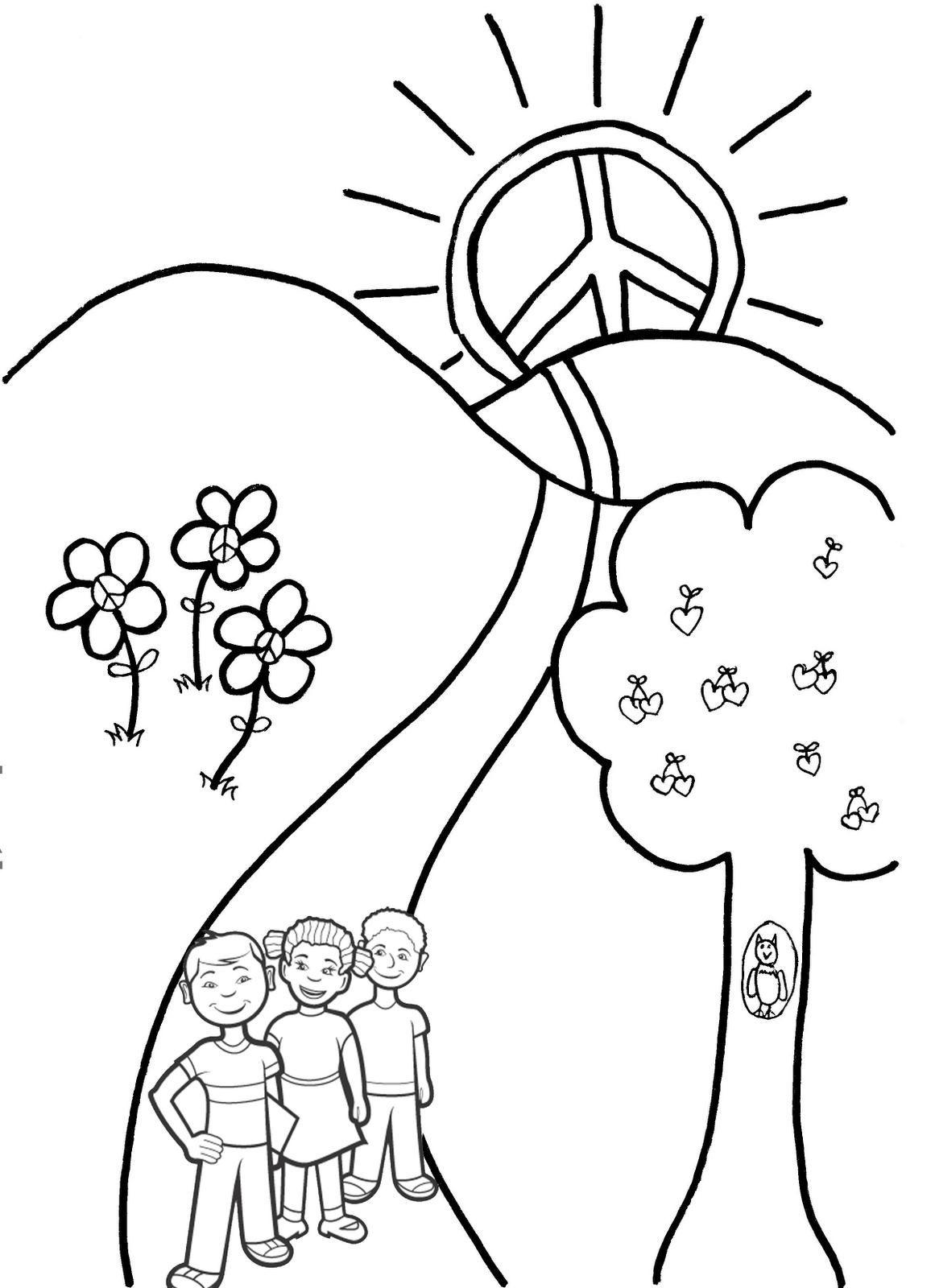 La paz es el camino,.. Síguelo. | Dibujos para colorear | Pinterest