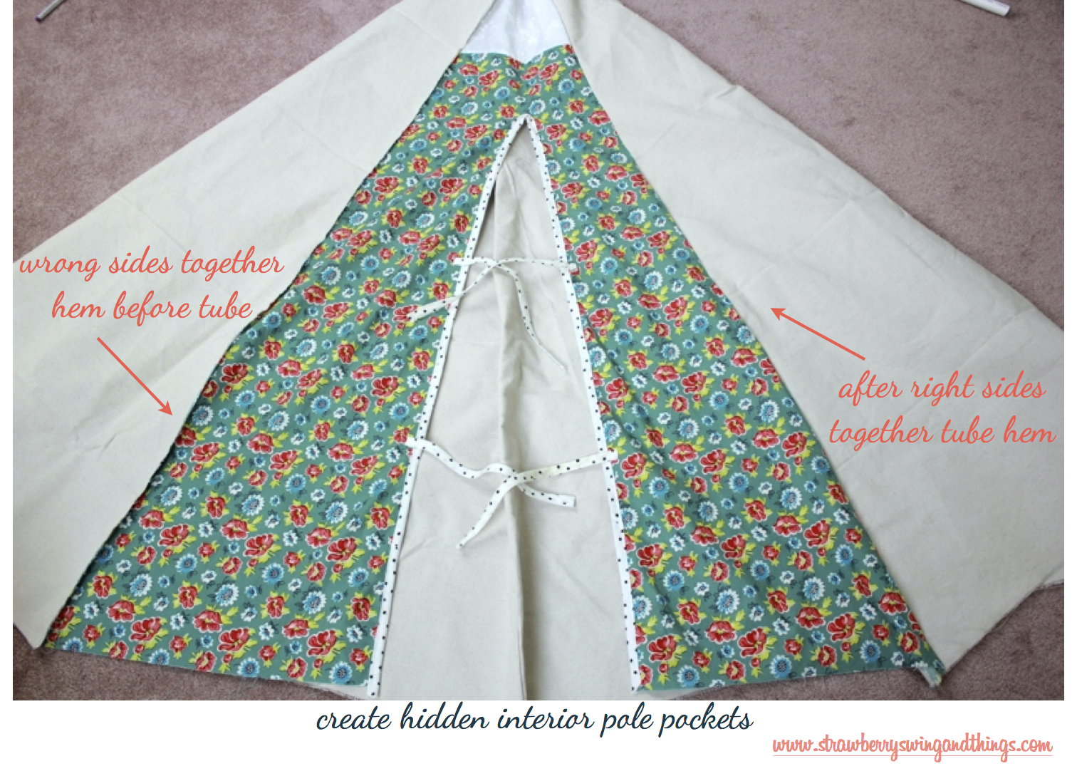 strawberry swing and other things sew fun diy teepee tutorial