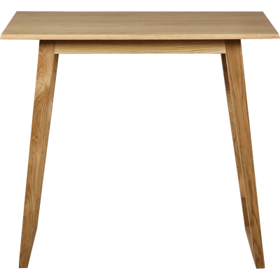 Table Haute Rectangulaire Plaquee Chene L115cm Alinea Comedores