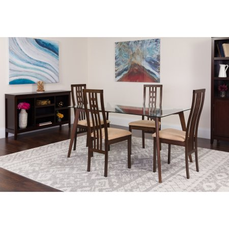 Home Solid Wood Dining Set Dining Chairs Dining Table