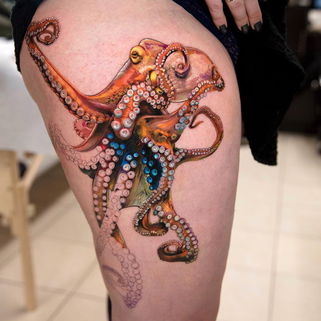 how to draw an octopus octopus by mikhail at class tattoos nyc ny 6799