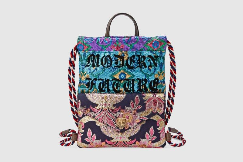 80728ac39b7 Your New Gym Bag Is This Floral Gucci Drawstring Backpack