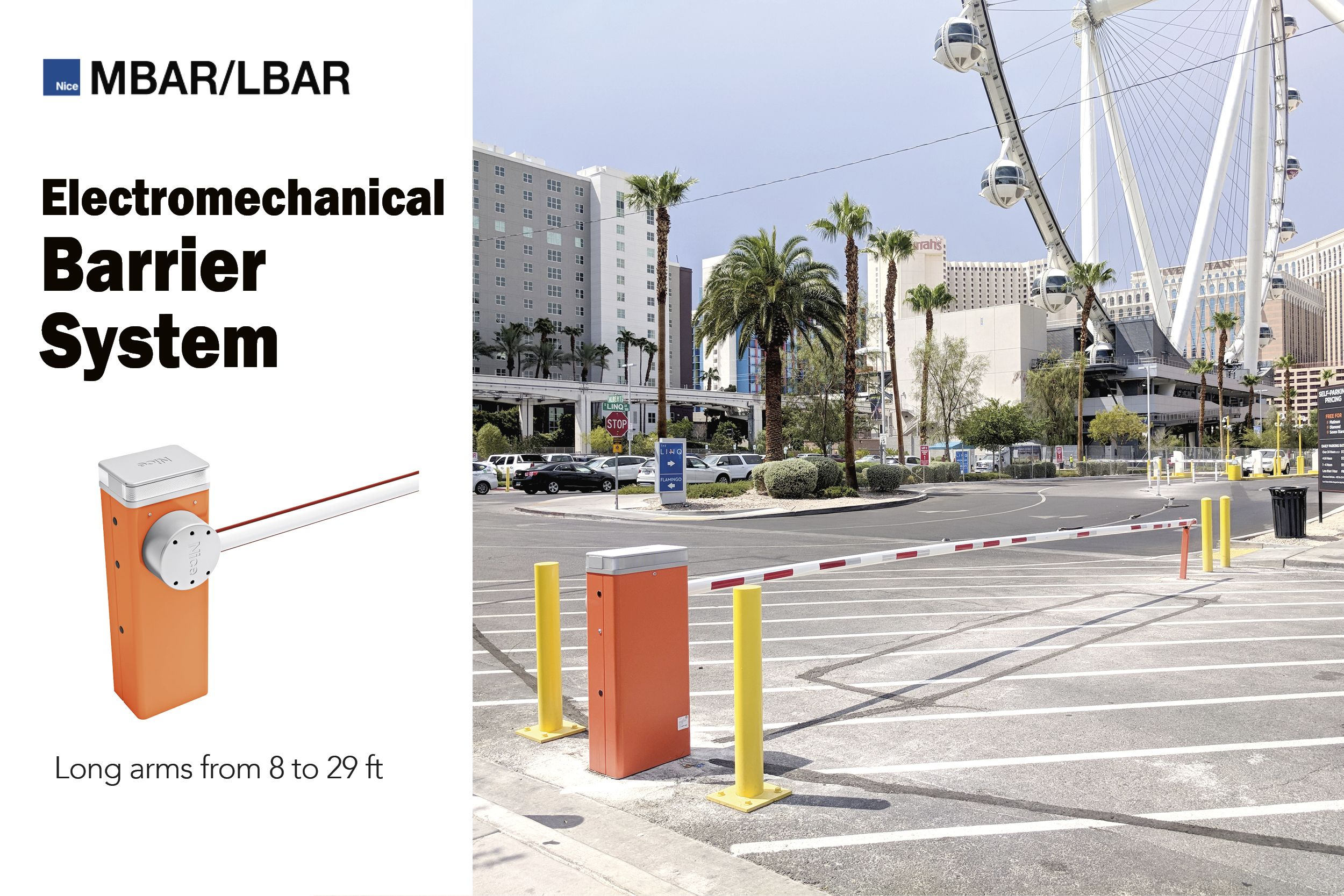 Nice MBAR - electromechanical barrier system for road access