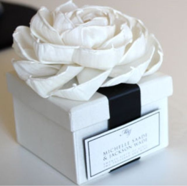 Couture Wedding Invitations Black And White Box