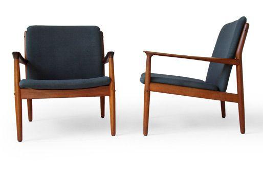 Grete Jalk Glostrup Teak Easy Chair Pour La Maison Modern