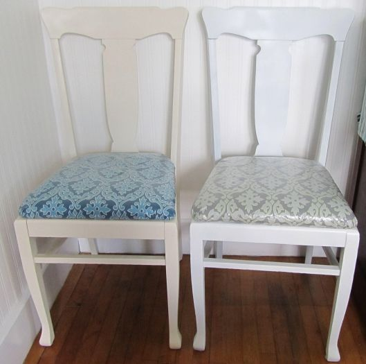 For Reference Left Chair Is Rustoleum Heirloom White And The Right Regular