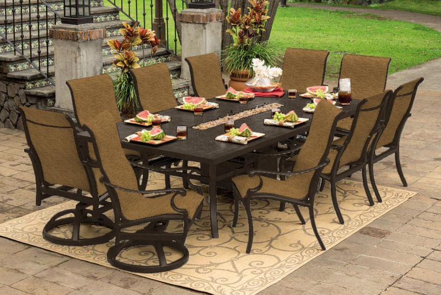 Monterey 9 Piece Dining Setprestige  Scioto Valley  Outdoor Gorgeous 9 Pc Dining Room Sets Design Decoration