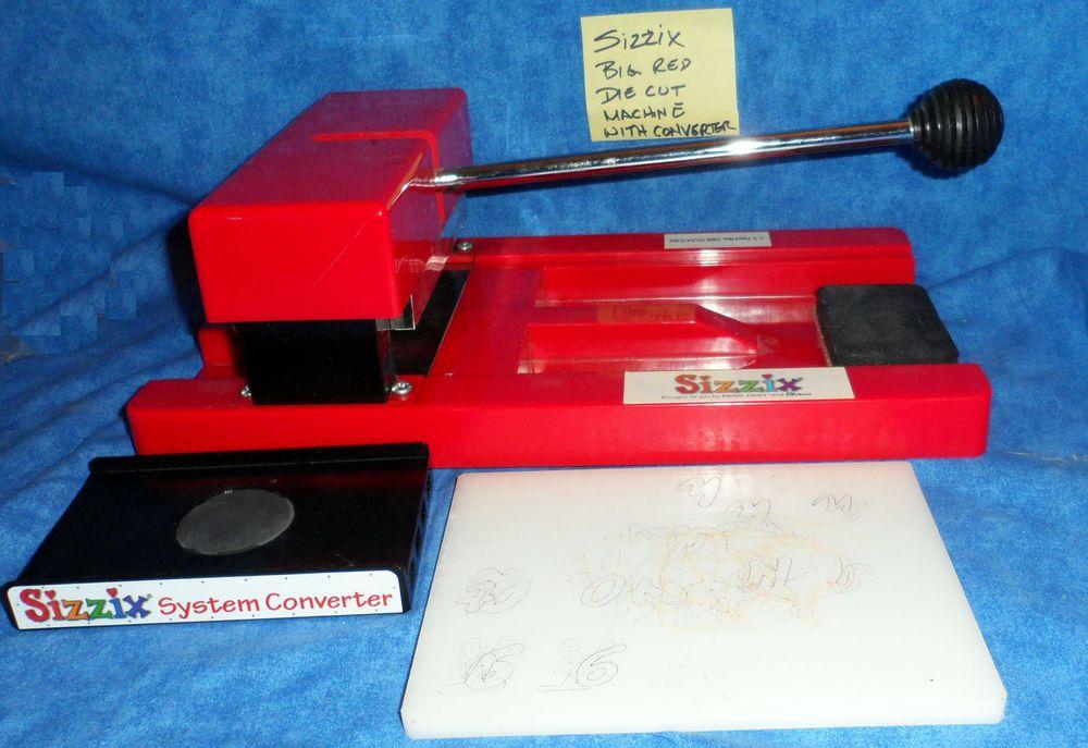Sizzix Original BIG RED DIE CUTTING MACHINE & System
