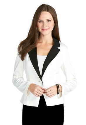Cato Fashions Black and White Ponte Jacket - Plus #CatoFashions