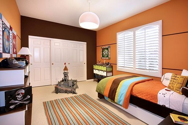 Beau Bedroom Original Kids Rooms Orange Boy Bedroom Colorful Blankets Orange  Staine Wall White Staine Wooden Door Kiddy Bedroom With Kids Room Design  Ideas