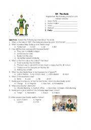 English worksheet: ELF: The Movie Questions | General speaking ...