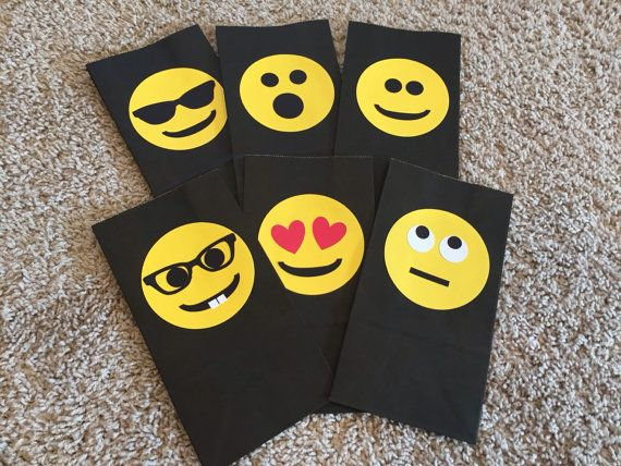 Emoji Party Bags Goody By StinkyToesCreations On Etsy