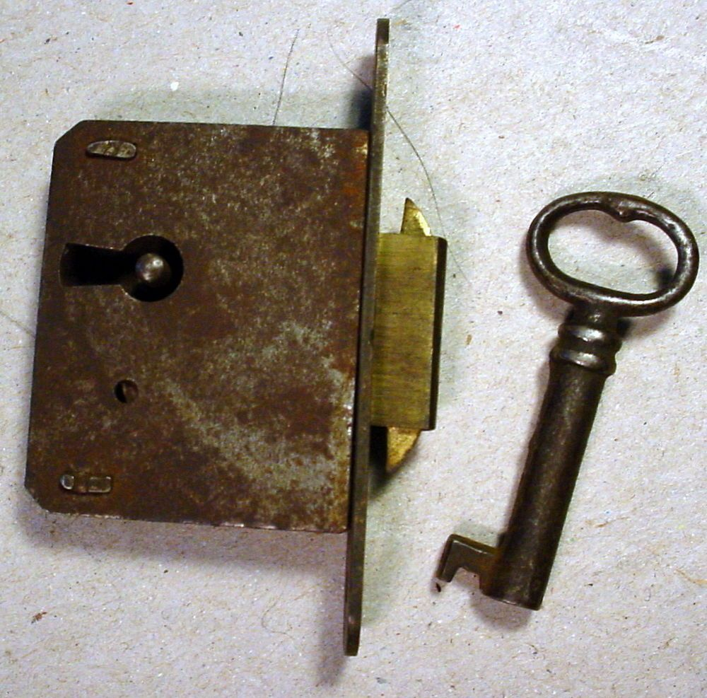 Key · Furniture Mortise Lock ... - Furniture Mortise Lock And Matching Key. This Is An Antique Lock