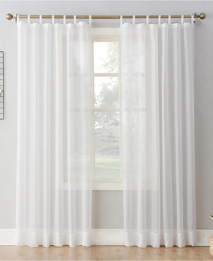 Lichtenberg No 918 Sheer Voile 59 X 95 Tab Top Curtain Panel Mattress Furniture Tab Top Curtains White Paneling