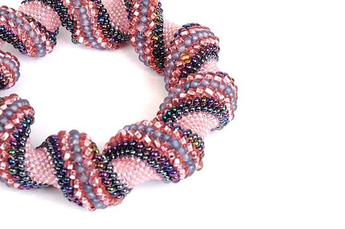 celliny spiral bracelet  #beadwork #jewelry