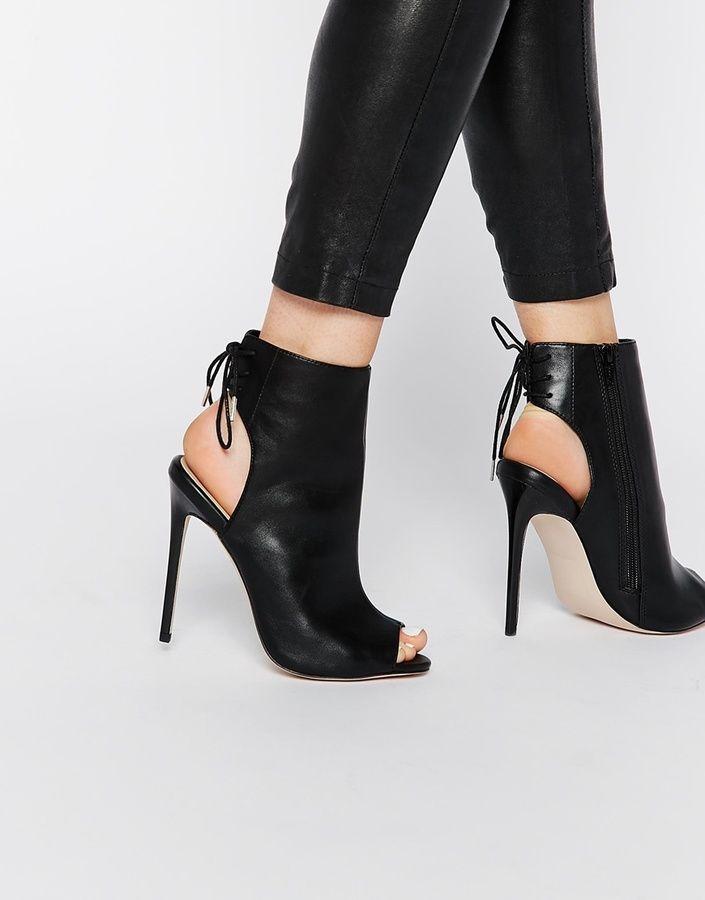 07e477133e ASOS COLLECTION ASOS EAST TOWN Peep Toe Shoe Boots | Fashion in 2019 ...