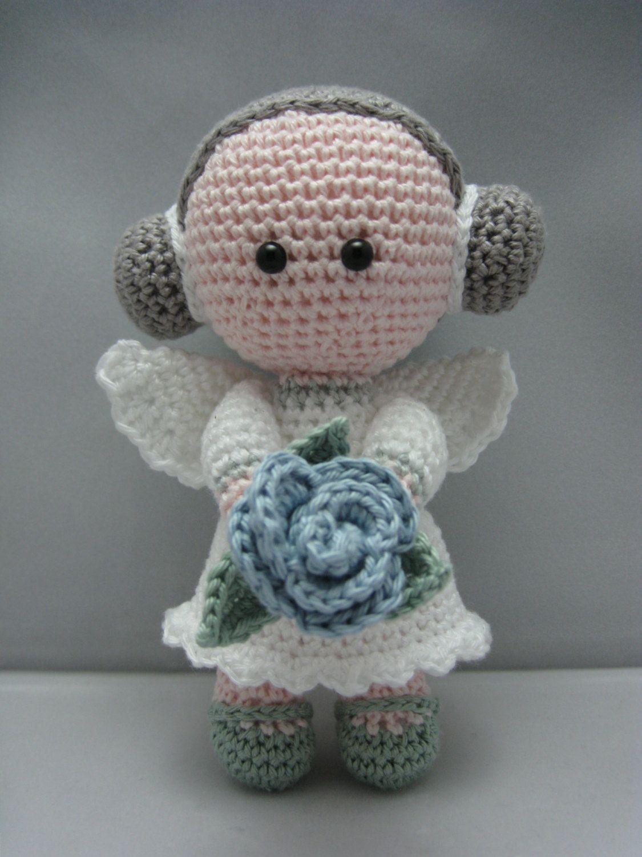 Amigurumi Doll Pdf : Flower angel instant download amigurumi doll crochet