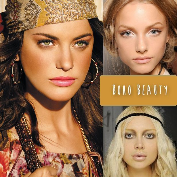 Boho chic is all about soft, neutral hues. Apply a natural base and brush on bro… – Summer MakeUp For Brown Eyes