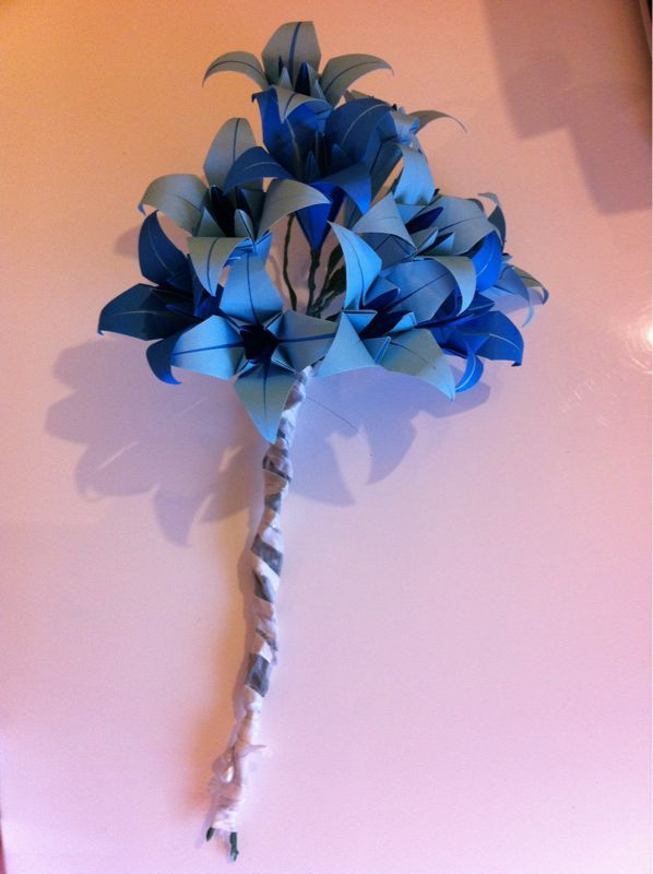 Origami Lilies I Made For A Wedding Bouquet Origami Lilies