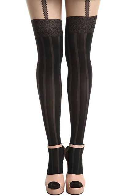 2cc47ad32  Romwe Thigh-length Suspender Tights