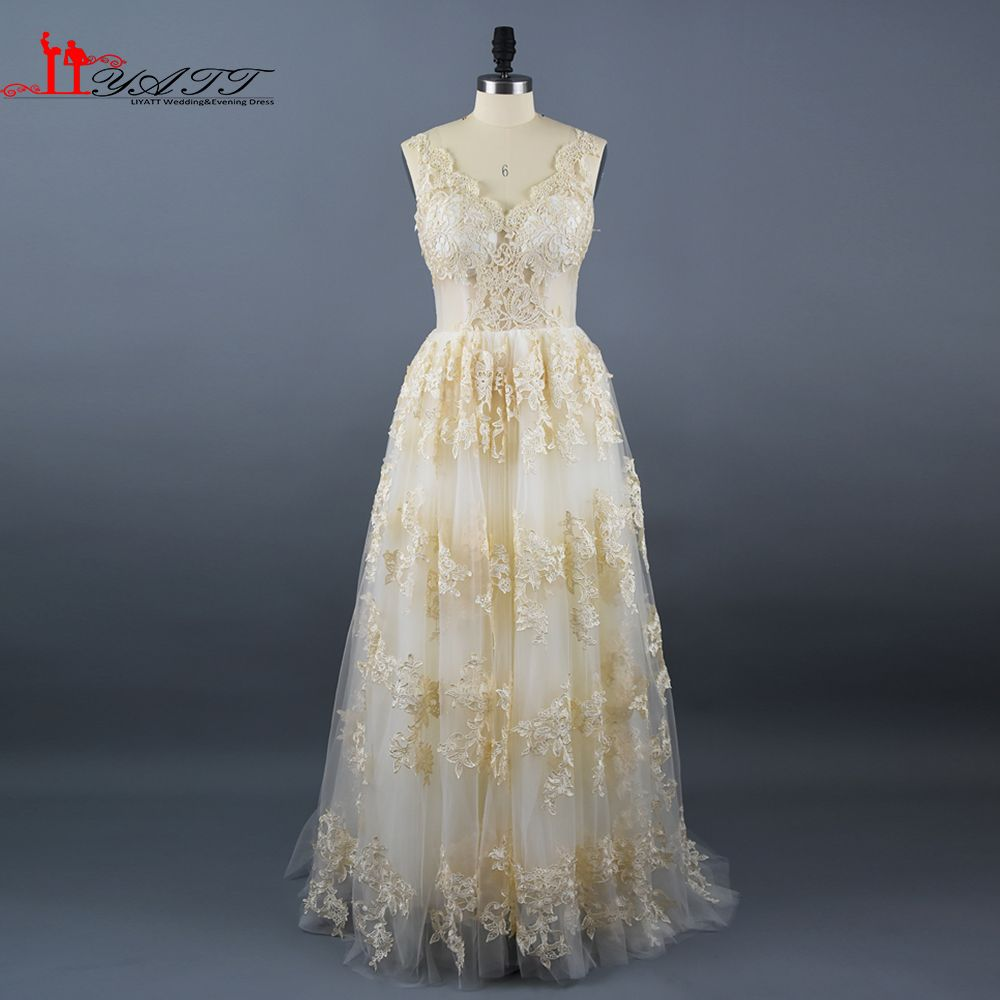 Click to buy ucuc new arrival best selling beige gold lace