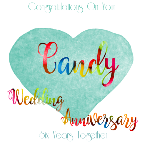 6th Wedding Anniversary Card Candy Anniversary Greeting Card Anniversary Cards For Wife Anniversary Cards Handmade Anniversary Greeting Cards