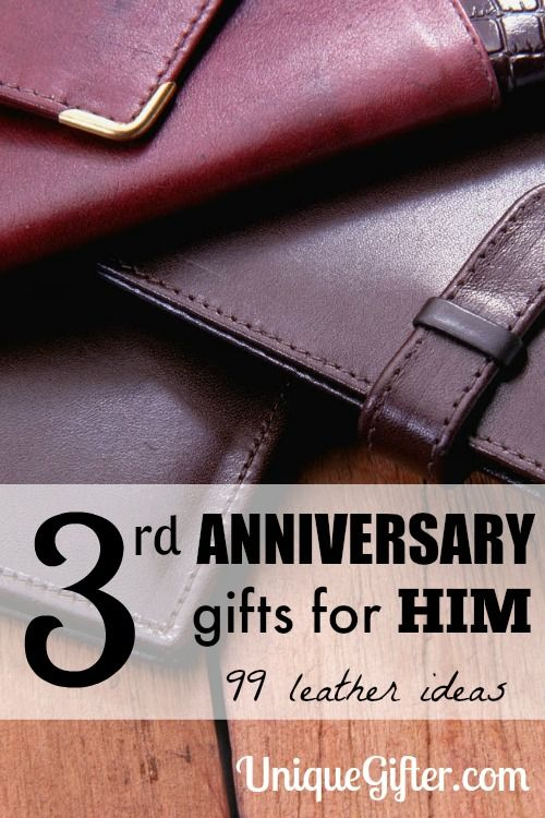 3rd Leather Anniversary Gifts For Him Leather Wedding