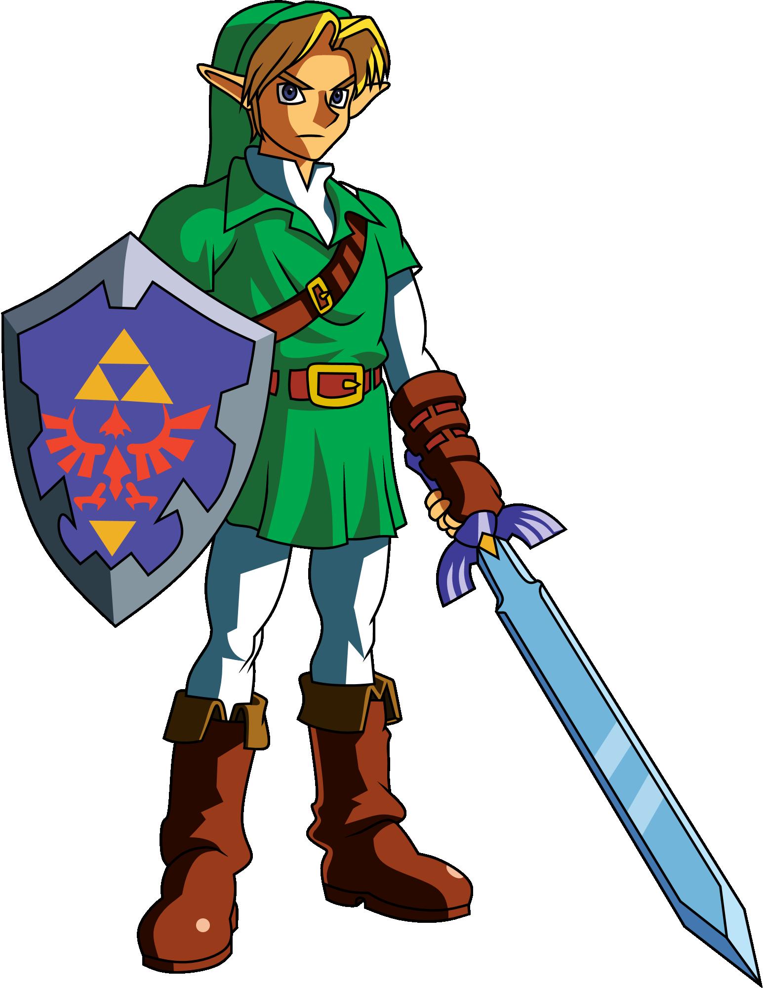 Link The Legend Of Zelda Ocarina Of Time Clipart Legend Of Zelda Ocarina Of Time 90s Nostalgia