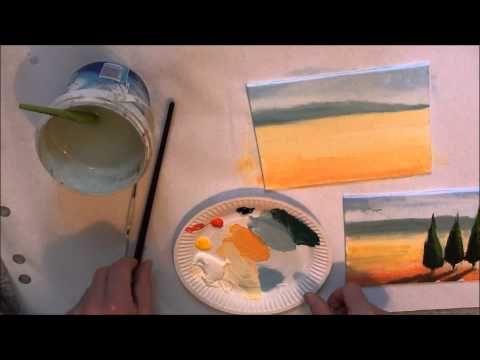10 Minuten Malerei Toskana Fur Anfanger Youtube Malerei