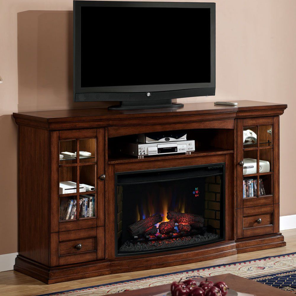 Charmant Entertainment Center With Fireplace | Seagate Electric Fireplace  Entertainment Center In Premium Pecan .