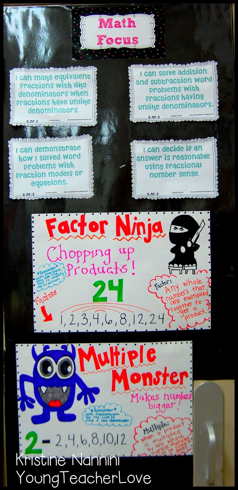 Factors And Multiples Anchor Charts And Teaching Ideas Young Teacher Love Math Focus Walls Math Math Instruction