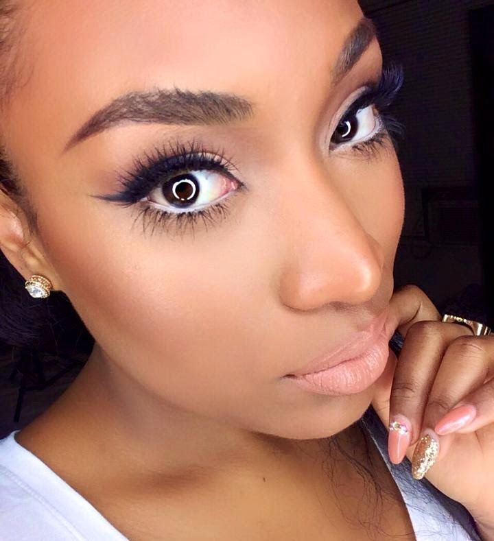 How I Apply False Eyelashes Top And Bottom Its All About Dem