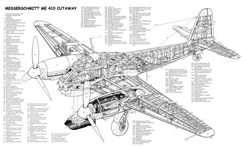 This wonderful Messerschmitt Me410 Cutaway is available in