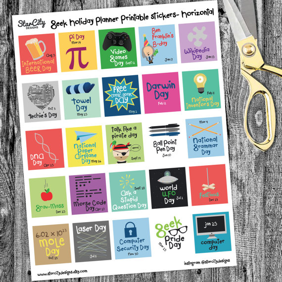 Geek Holiday Planner Printable Planner Printables Holiday