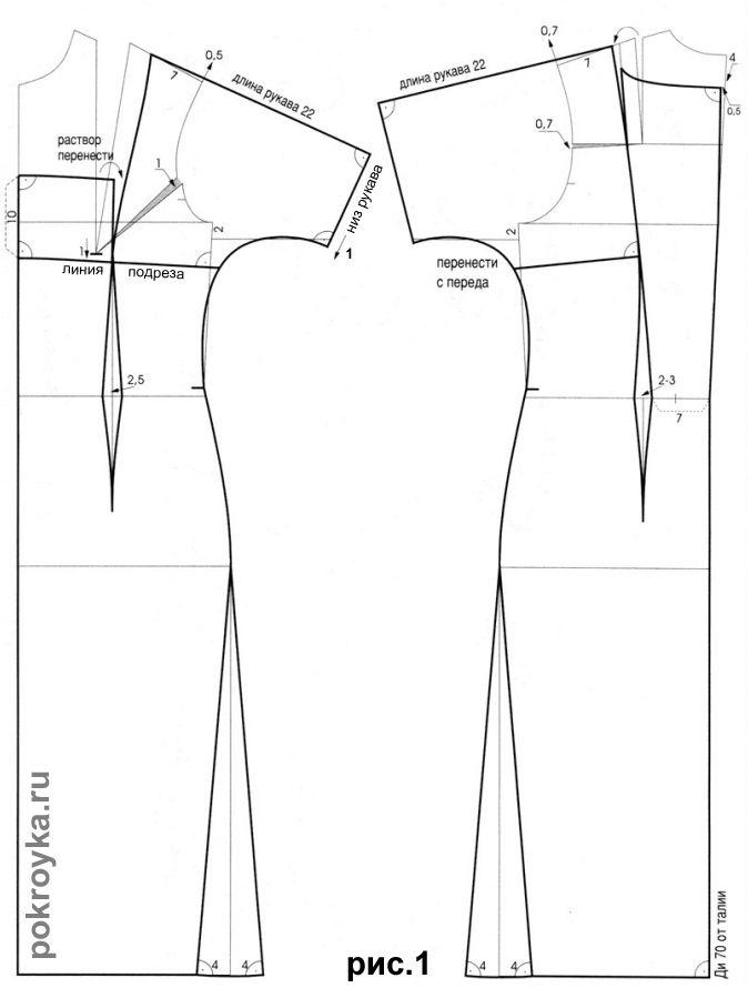 Выкройка платья с короткими цельнокроеными рукавами | Corset Dresses ...