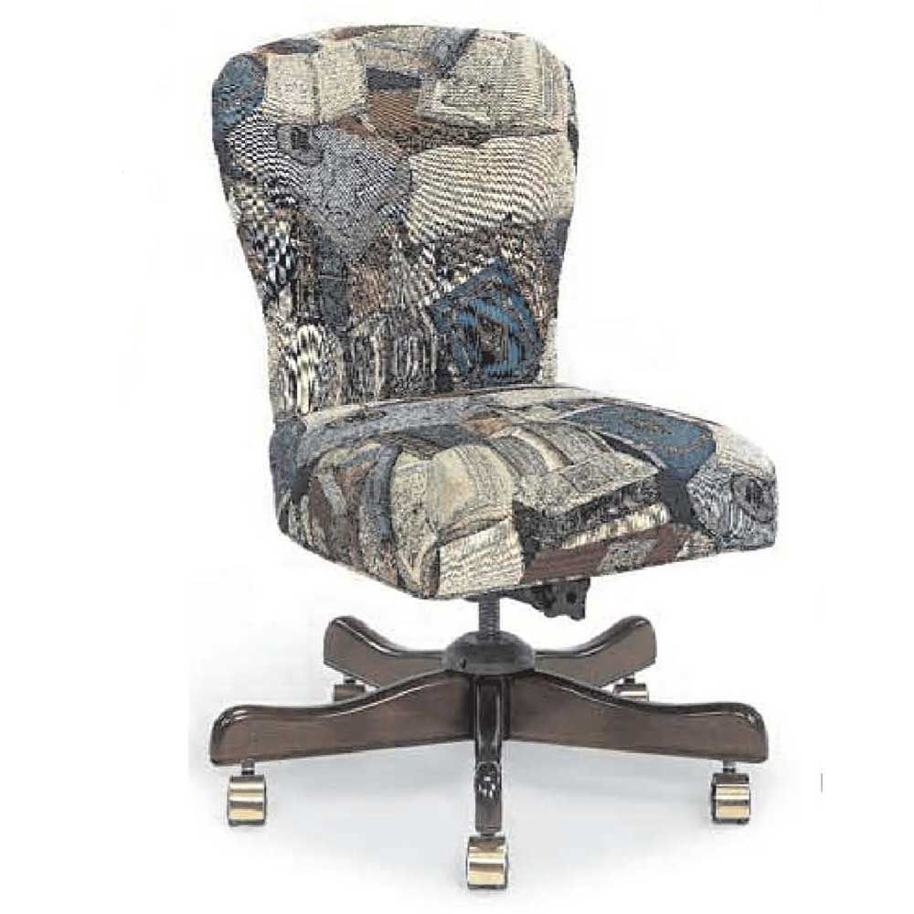 Armless Upholstered Fabric Office Swivel Chairs Upholstered Desk