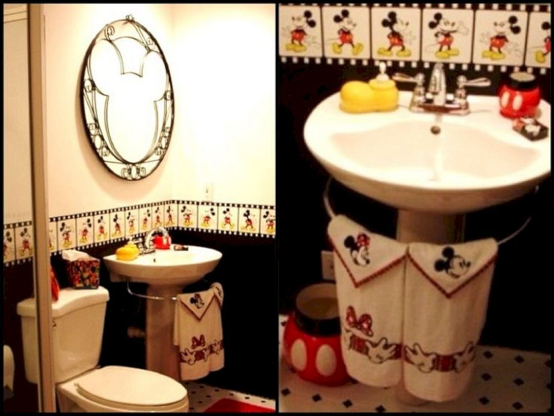 35 Best Mickey Mouse Bathroom Collection Ideas For Your Kids Bathroom Freshouz Com With Images Mickey Mouse Bathroom Minnie Mouse Bathroom Decor Kid Bathroom Decor