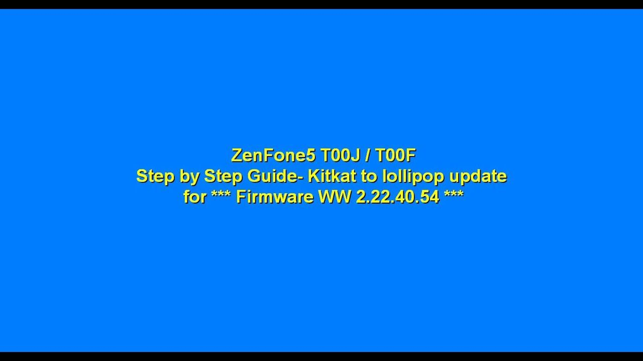 Download firmware asus zenfone 5 t00f ww lollipop