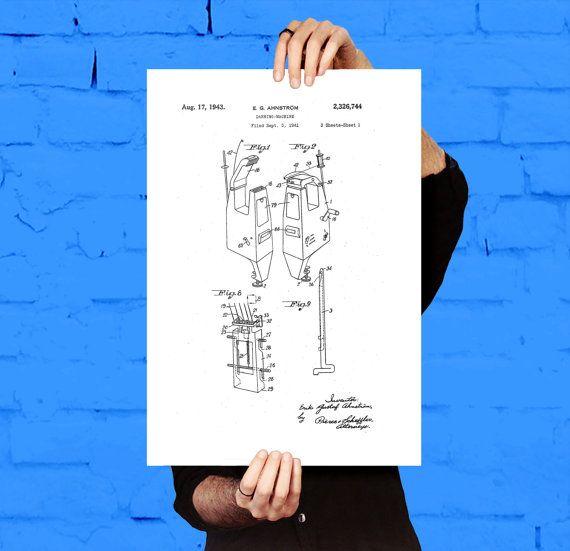 Darning machine patent darning machine poster darning machine darning machine patent darning machine poster darning machine blueprint darning machine print darning machine art sewing decor by stanleyprinthouse malvernweather Gallery