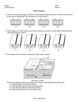 worksheet plate tectonics editable earth science. Black Bedroom Furniture Sets. Home Design Ideas