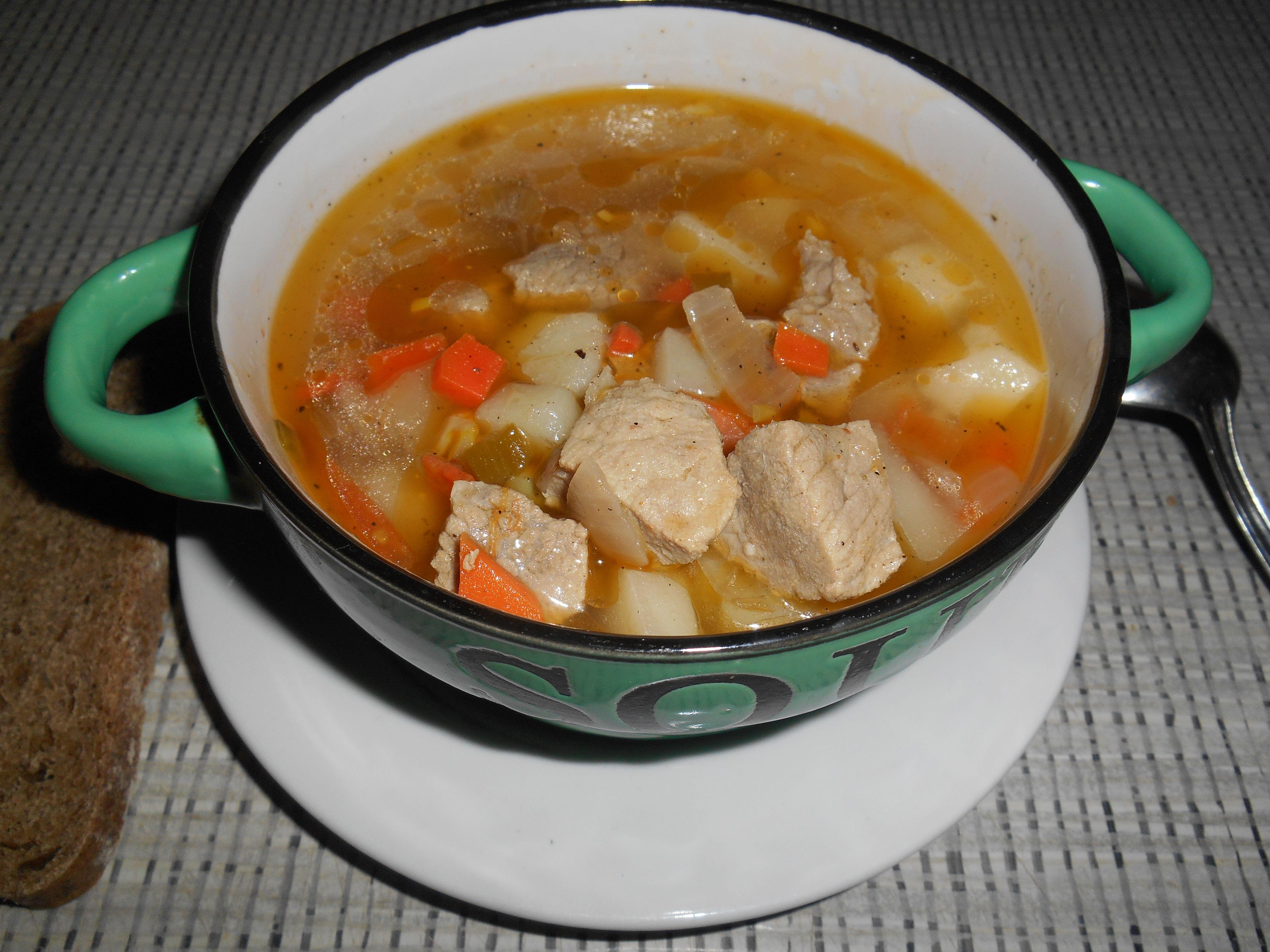 Суп со свининой рецепты с фото простые