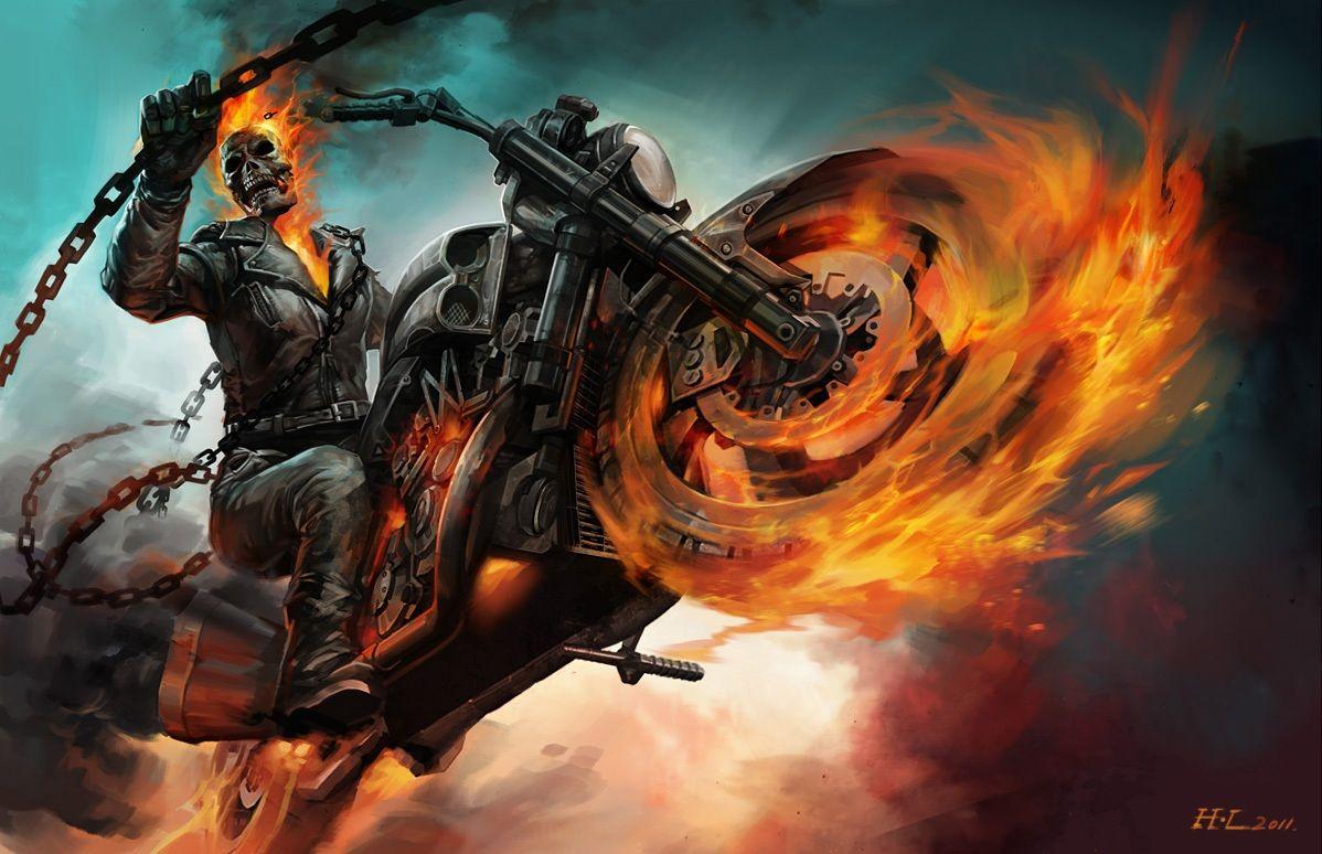Redskullspage Ghost Rider By Hualu Ghost Rider Wallpaper Ghost Rider Marvel Ghost Rider Ghost rider spirit of vengeance game