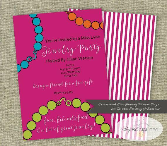 Jewelry Party Invitation Home Party Jewelry by ShySocialites - fresh birthday invitation jokes