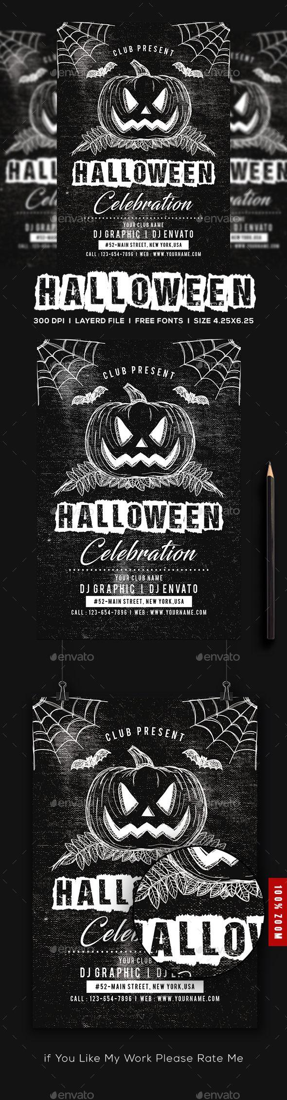 Halloween Flyer Template Psd Halloween Flyer Templates Pinterest