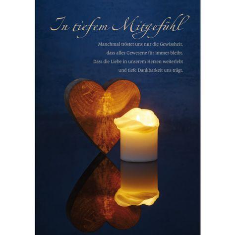In tiefem Mitgefühl | Tiefstes mitgefühl, Trauer texte und