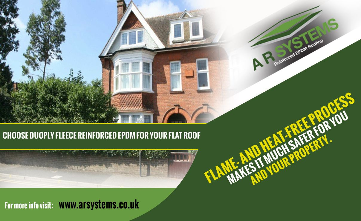 Choose DuoPly fleece reinforced EPDM for your flat roof