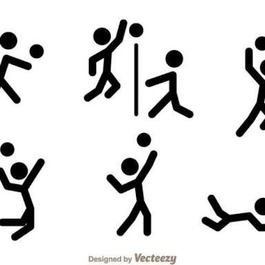 Pin By Judith Mb On Tareas Stick Figures Vector Icons Volleyball