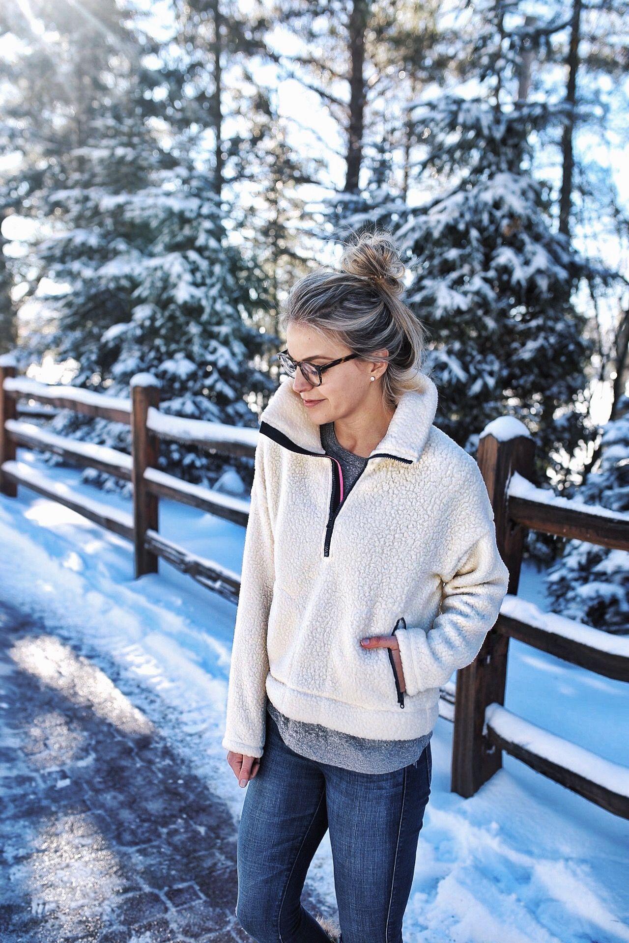 Lake Placid Snaps What To Wear For Winter Pinterest Austin Wedges Stormin Beige 37 Half Zip Sweatshirt In Polartec Fleece