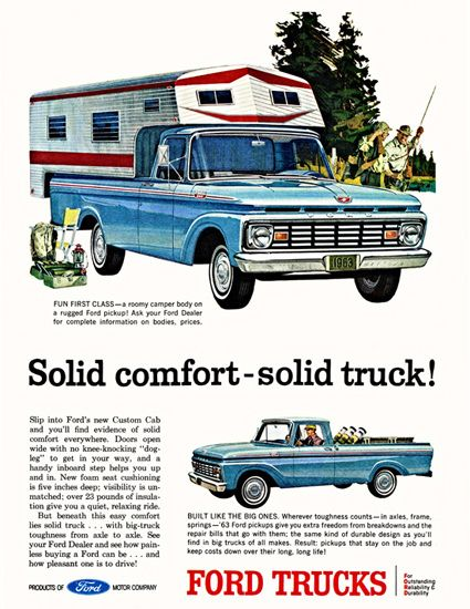 Ford Pickup 1963 Solid Comfort Solid Truck | Car Ads | Pinterest ...